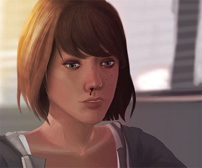 Life is Strange: Max Nosebleed at the diner
