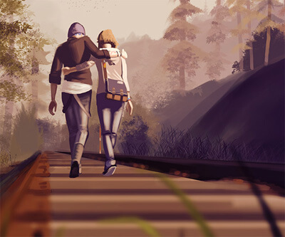 Life is Strange: Max and Chloe Walking